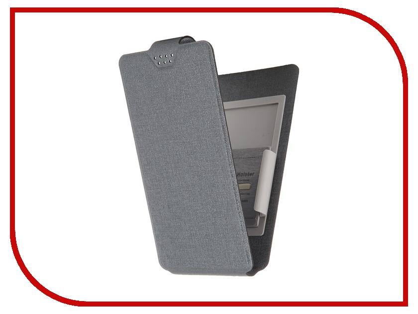 Аксессуар Чехол-флип Clever SlideUP M 4.4-5.0-inch универсальный иск. кожа Grey
