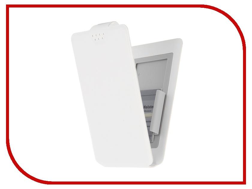 Аксессуар Чехол-флип Clever SlideUP S 3.5-4.3-inch универсальный иск. кожа White<br>