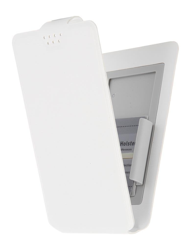 Чехол-флип Clever SlideUP S 3.5-4.3-inch универсальный иск. кожа White