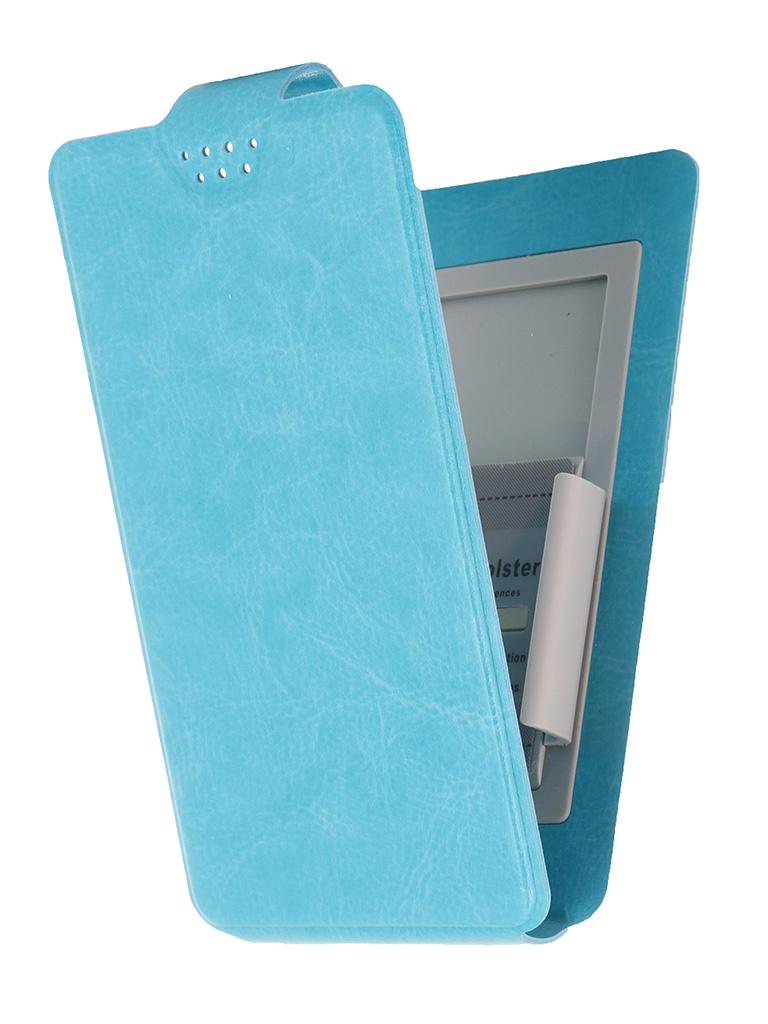 Чехол-флип Clever SlideUP S 3.5-4.3-inch универсальный иск. кожа Blue