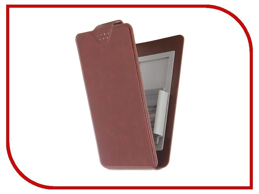 Аксессуар Чехол-флип Clever SlideUP S 3.5-4.3-inch универсальный иск. кожа Brown