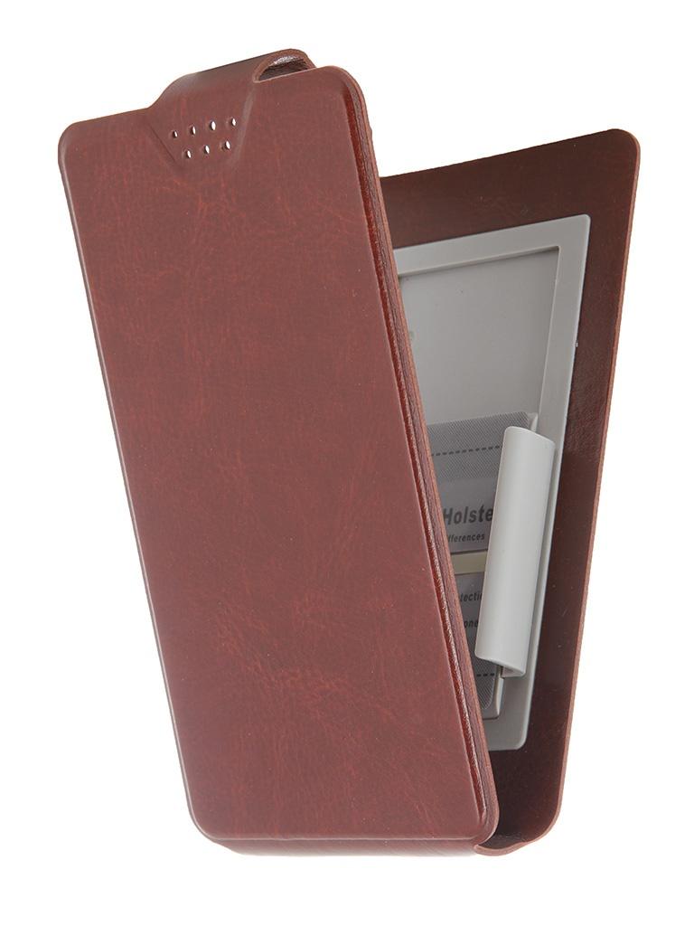 Чехол-флип Clever SlideUP S 3.5-4.3-inch универсальный иск. кожа Brown