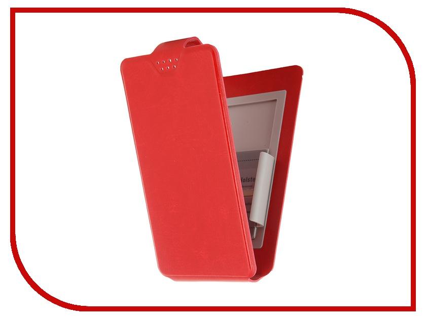 Аксессуар Чехол-флип Clever SlideUP S 3.5-4.3-inch универсальный иск. кожа Red
