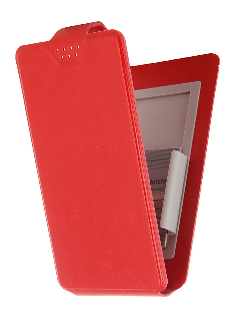 Чехол-флип Clever SlideUP S 3.5-4.3-inch универсальный иск. кожа Red