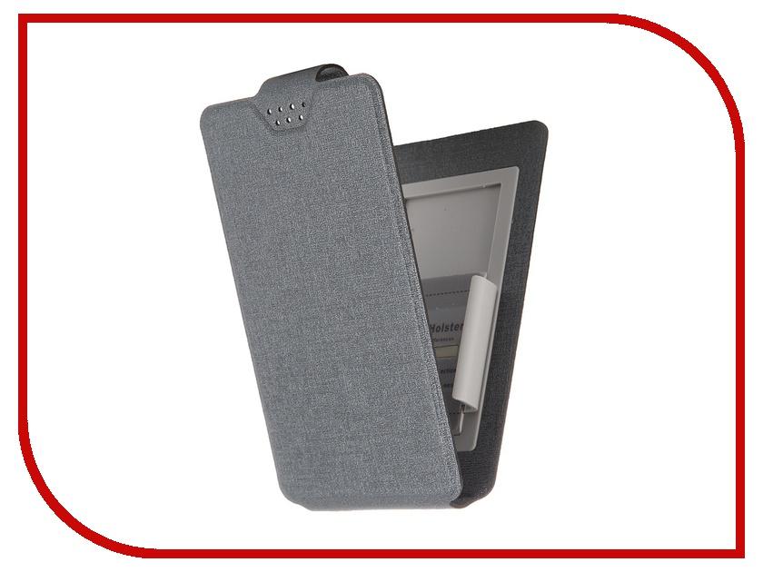 Аксессуар Чехол-флип Clever SlideUP S 3.5-4.3-inch универсальный иск. кожа Grey<br>