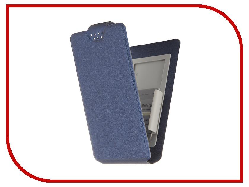 Аксессуар Чехол-флип Clever SlideUP S 3.5-4.3-inch универсальный иск. кожа Dark-Blue<br>