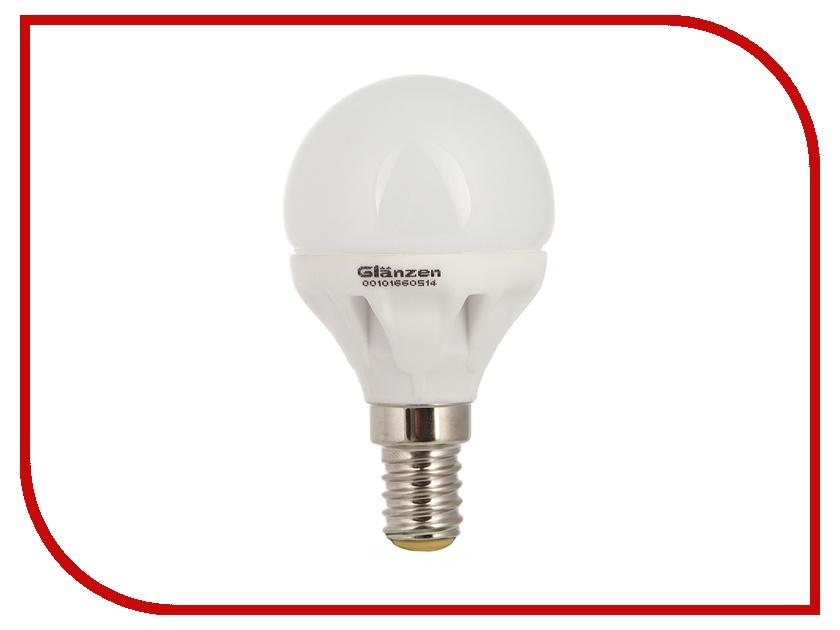 Лампочка GLANZEN LED P45 E14 5W 2700K 220V LEW-0037-14<br>