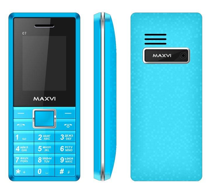 Сотовый телефон Maxvi C7 Blue-White<br>