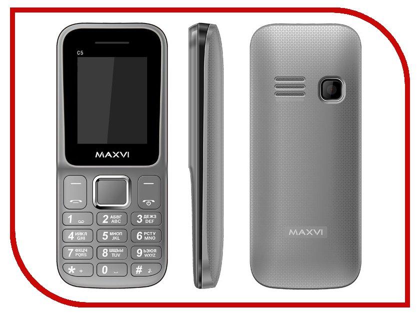 Сотовый телефон Maxvi C5 Gray<br>