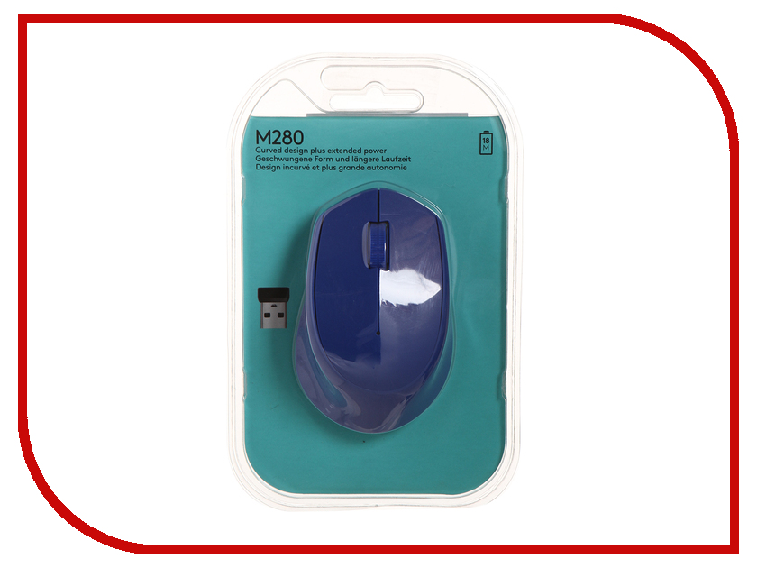 Мышь беспроводная Logitech M280 Blue 910-004294 / 910-004290<br>