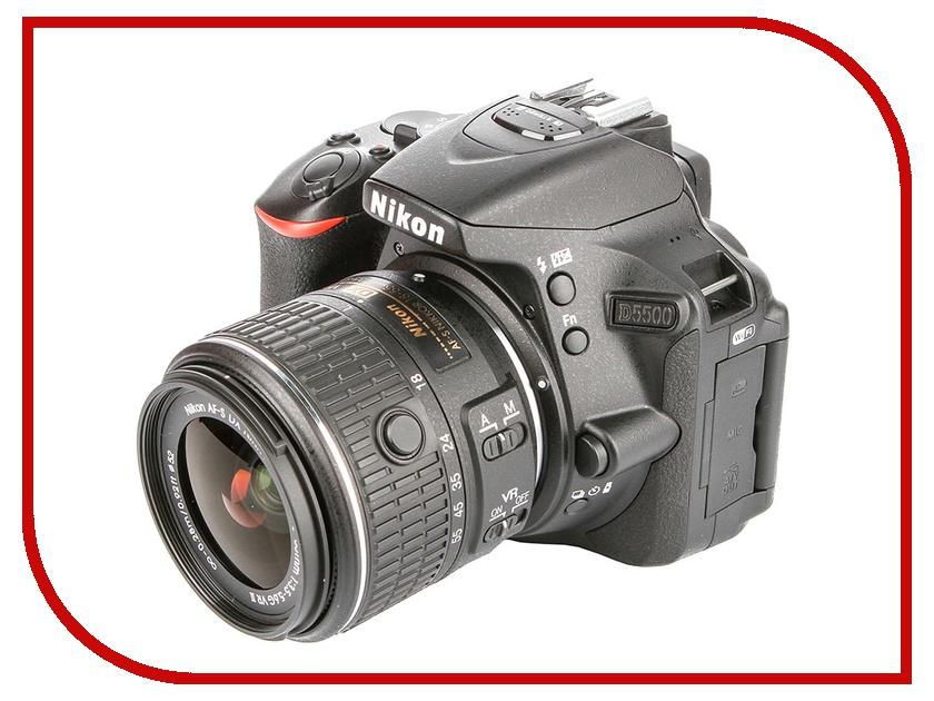 Фотоаппарат Nikon D5500 Kit AF-S DX 18-55 mm f/3.5-5.6G VR II Black
