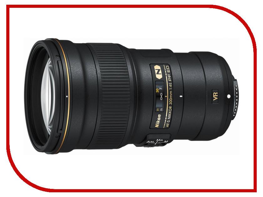 Объектив Nikon Nikkor AF-S 300 mm f/4.0 E PF ED VR nikon nikon af s nikkor 28mm f 1 8g фиксированный фокус широкоугольный объектив