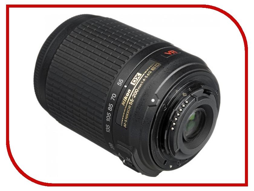 Объектив Nikon Nikkor AF-S 55-200 mm f/4-5.6 G DX ED VR II nikon nikon af s nikkor 28mm f 1 8g фиксированный фокус широкоугольный объектив