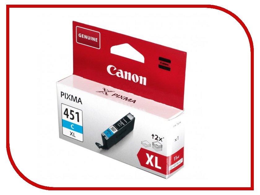 Картридж Canon CLI-451C XL Cyan 6473b001 чернильный картридж canon cli 451gy xl grey