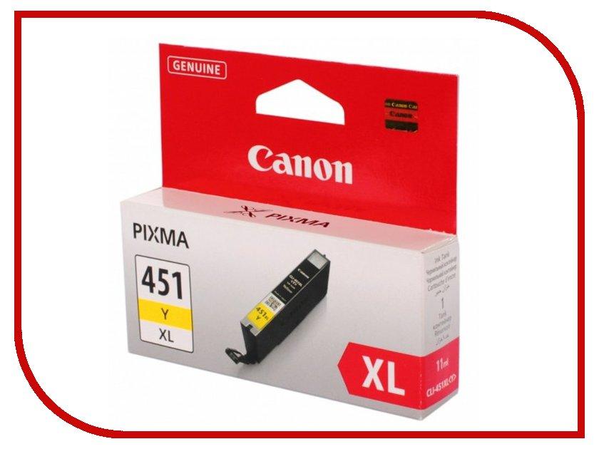 Картридж Canon CLI-451Y XL Yellow 6475b001 картридж canon cli 8c для ip4200 ip5200 0621b024