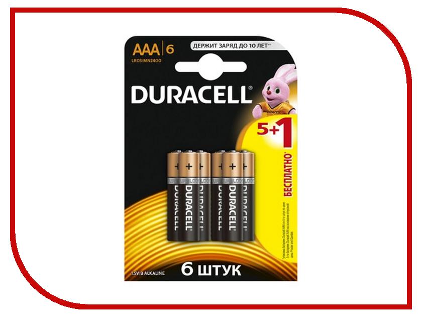 все цены на Батарейка AAA - Duracell LR03 BL6 (6 штук) онлайн