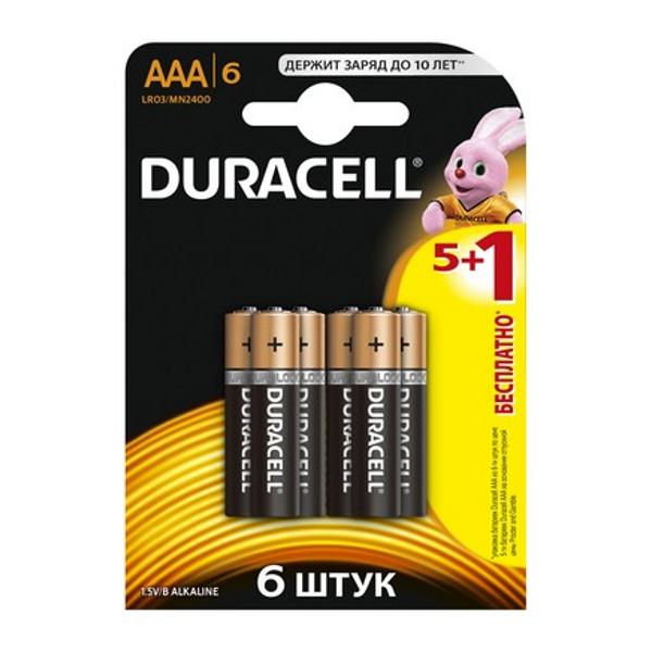 Батарейка AAA - Duracell LR03 BL6 (6 штук)