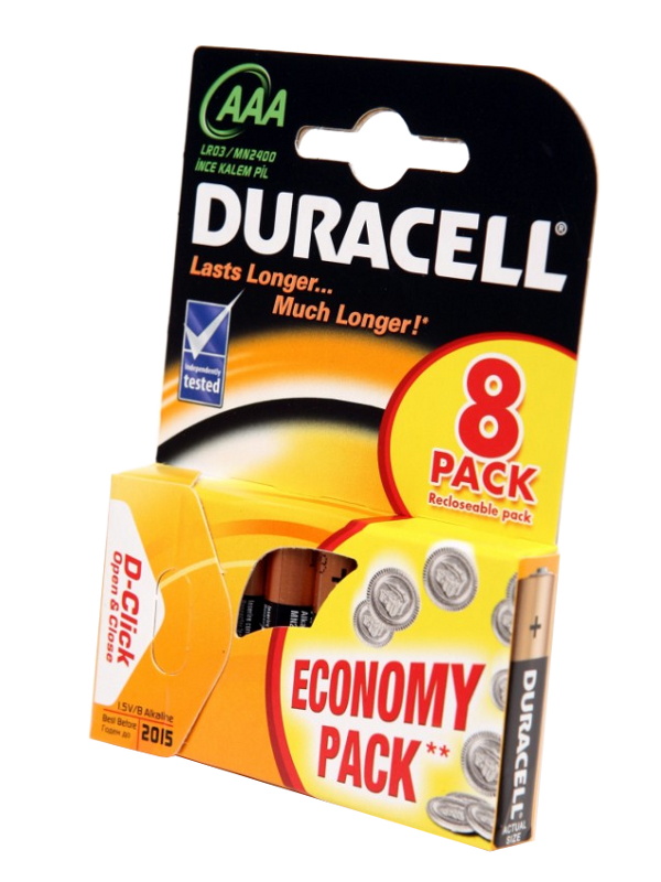 Батарейка AAA - Duracell LR03 BL8 (8 штук)