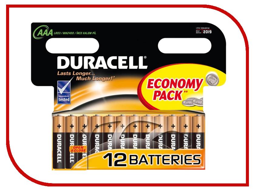 Батарейка AAA - Duracell LR03 BL12 (12 штук) батарейка duracell lr03 18bl basic 18 шт