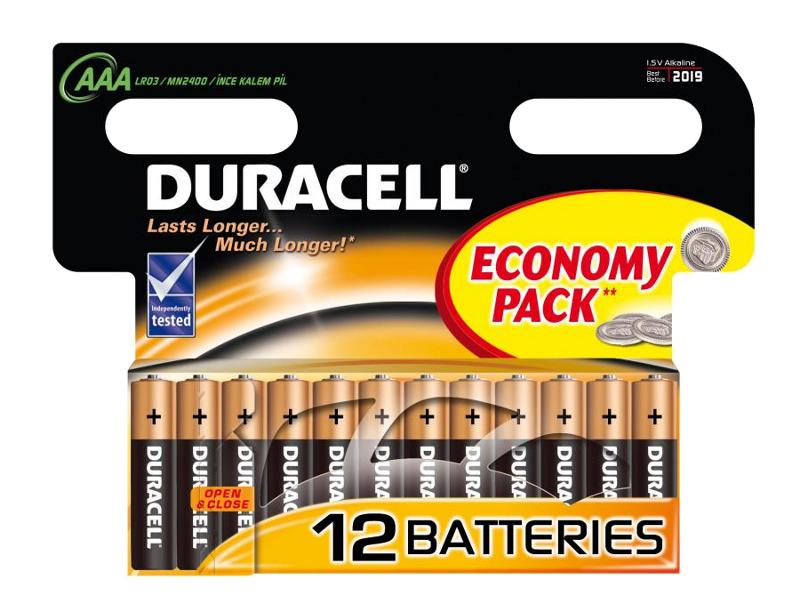 Батарейка AAA - Duracell LR03 BL12 (12 штук)