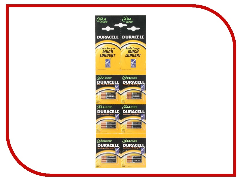 Батарейка AAA - Duracell LR03 BL12 2x6 (12 штук)<br>