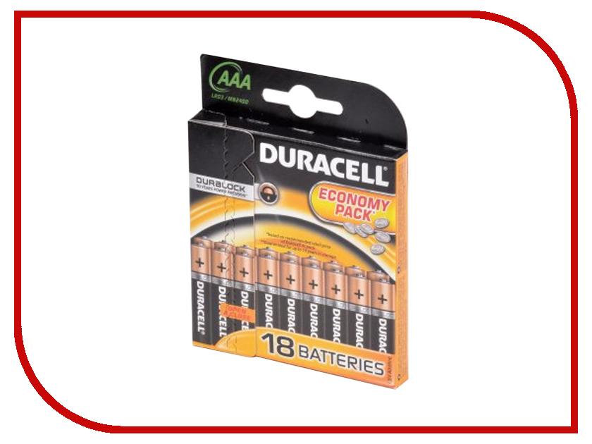 Батарейка AAA - Duracell LR03 BL18 (18 штук) батарейка duracell lr03 bp2 2шт