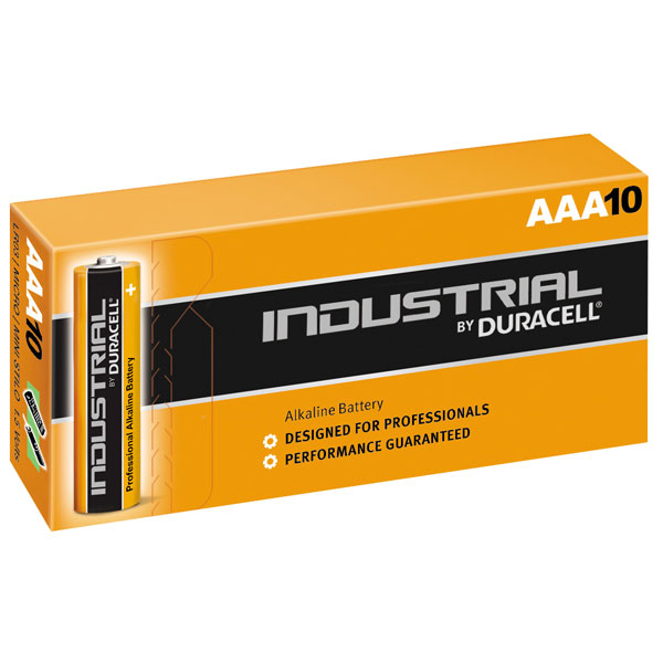 Батарейка AAA - Duracell LR03 Industrial (10 штук) батарейка aaa duracell lr03 mx2400 turbo max bl8 8 штук
