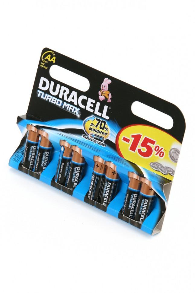 Батарейка AA - Duracell LR6 Turbo MAX BL8 (8 штук) батарейка duracell turbo max lr6 8bl 8 шт aa