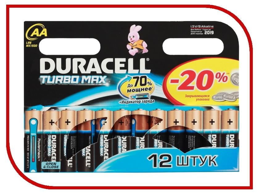 Батарейка AA - Duracell LR6 Turbo MAX BL12 (12 штук) duracell professional lr6 aa