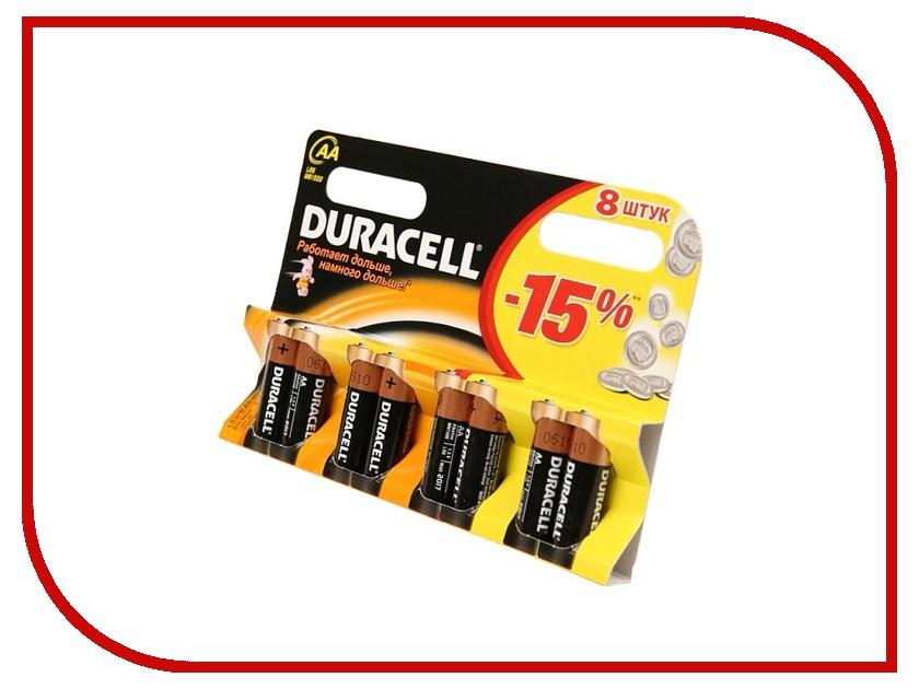 Батарейка AA - Duracell LR6 BL8 (8 штук) duracell lr6 2bl turbo 2шт aa