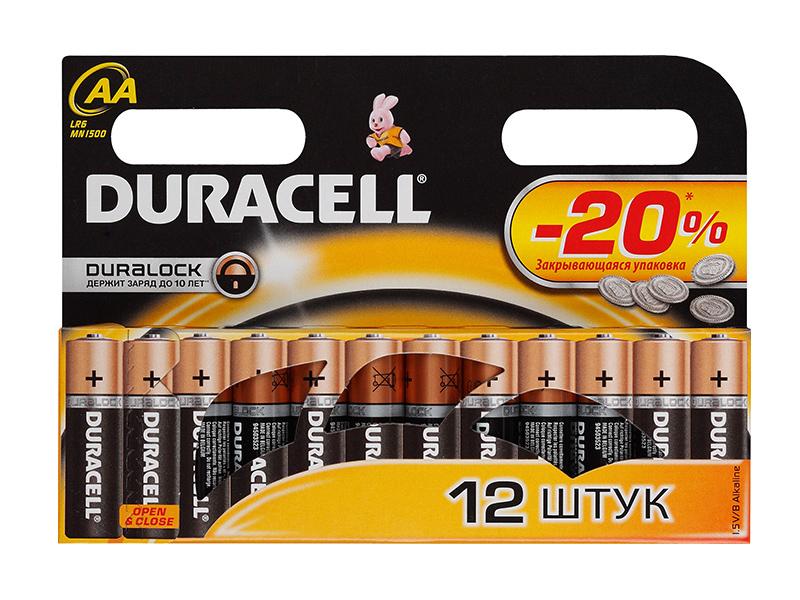 Батарейка AA - Duracell LR6 BL12 (12 штук)