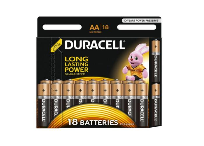 Батарейка AA - Duracell LR6 BL18 (18 штук)