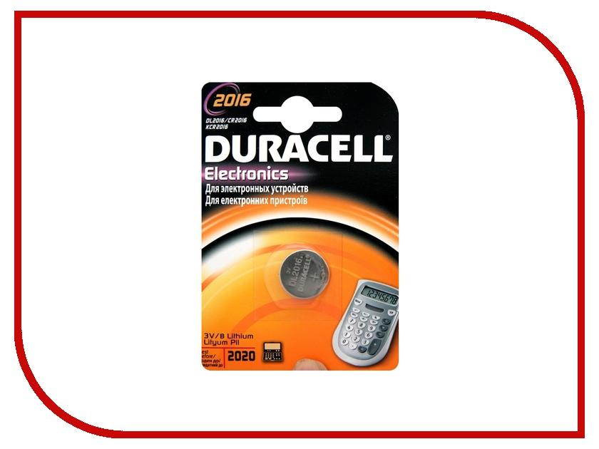 Батарейка CR2016 - Duracell CR2016 BL1 (1 штука)<br>