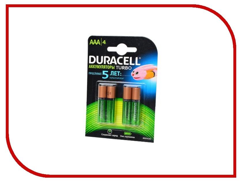 Аккумулятор AAA - Duracell HR03 850 mAh BL4 (4 штуки) аккумулятор aaa duracell hr03 850 mah bl2 2 штуки