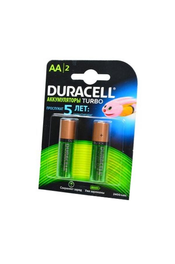 Аккумулятор AA - Duracell HR6 2400 mAh BL2 (2 штуки)