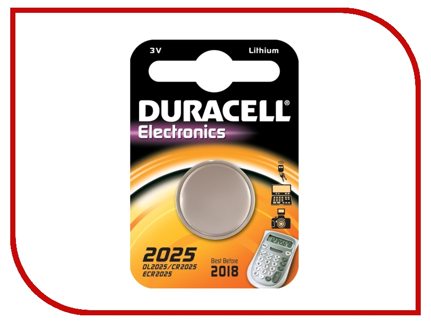 Батарейка DL2025 / CR2025 - Duracell DL2025 BL1 (1 штука) батарейка cr123a kodak ultra cr123a 3v bl1 1 штука