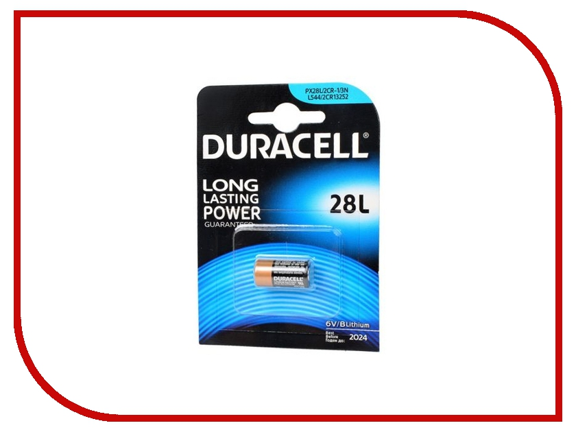 Батарейка 28L - Duracell 28L PX28L / 2CR11108 / L544 BL1 (1 штука)