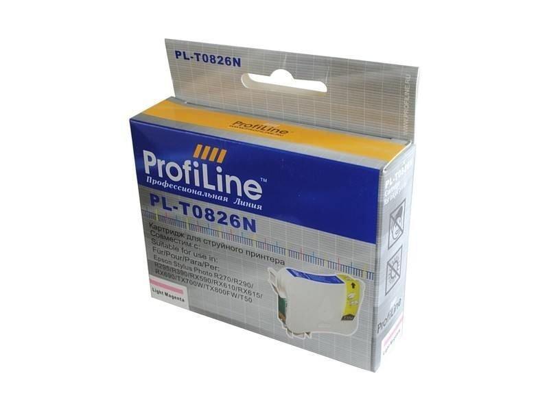 Картридж ProfiLine PL-0826 for Epson R270/R290/R295/R390/RX590/RX610/RX615/RX690/1410/TX700W/TX800FW/T50 Light Magenta