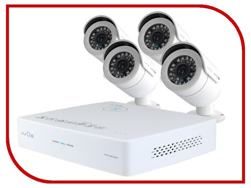 Видеонаблюдение iVUE Mini 960Н PRO 4+4 800 ТВЛ 6004K-CK20-1099ICR от Pleer