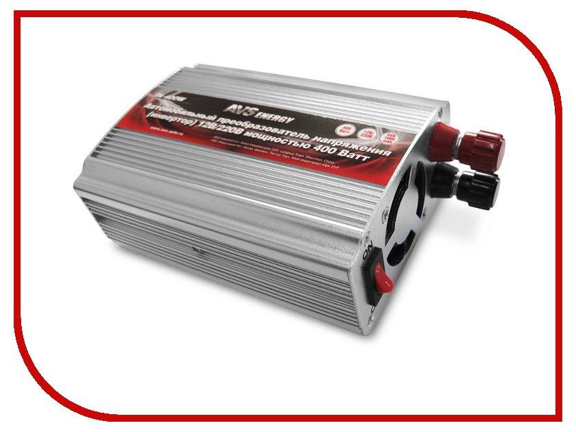 Автоинвертор AVS IN-400W (400Вт) A80684S с 12В на 220В автоинвертор avs in 1000w 43113 с 12в на 220в