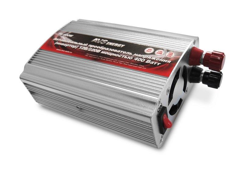 Автоинвертор AVS IN-400W (400Вт) A80684S с 12В на 220В drill kraton d 400 10p 400w 0 2800ob min 10mm bzp reverse met reduktor in a box