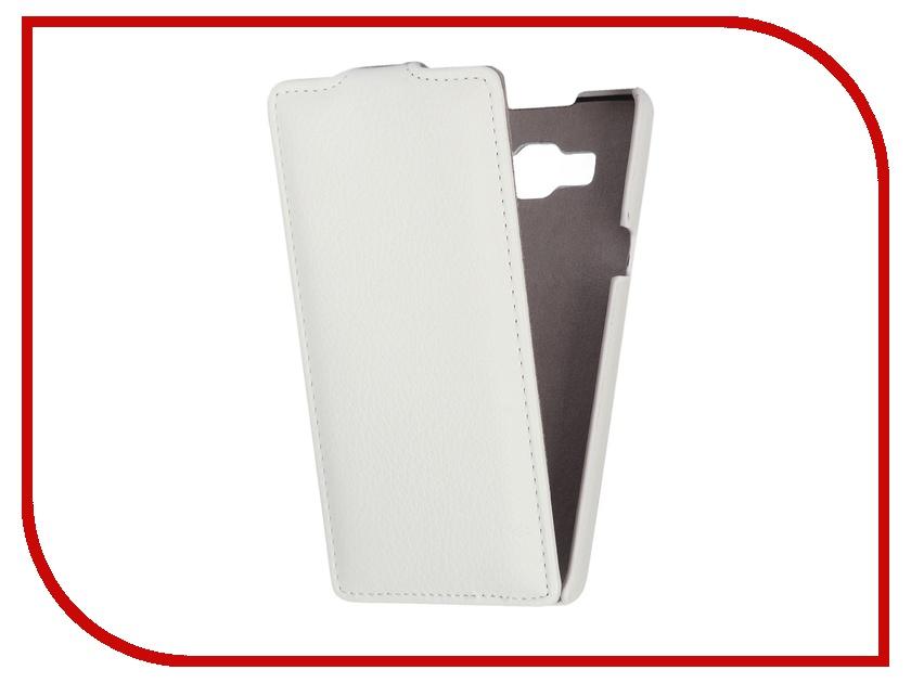 Аксессуар Чехол Samsung SM-A500F Galaxy A5 Ainy кожаный White<br>