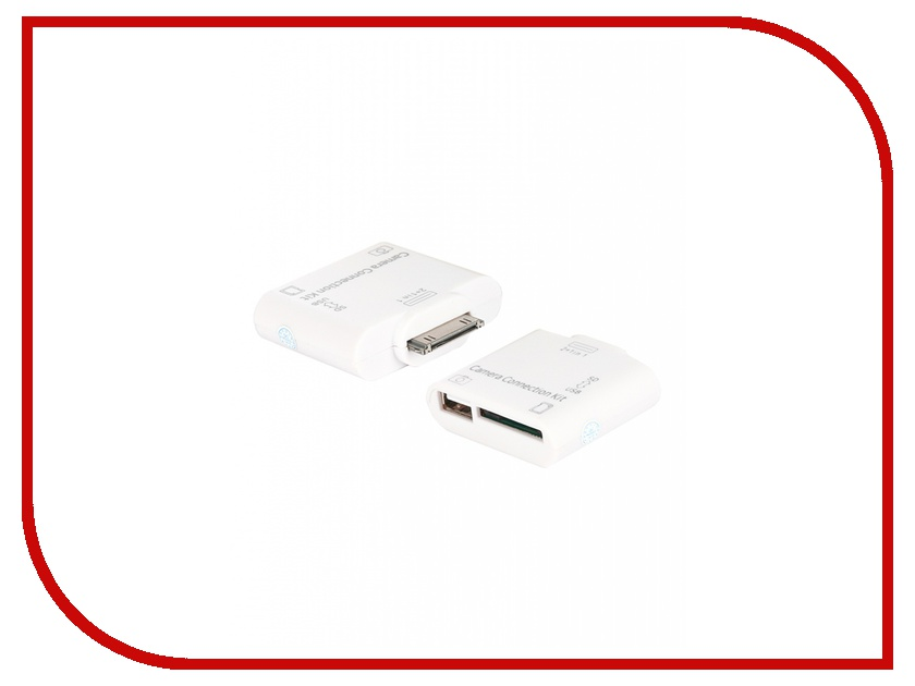 Аксессуар Oxion 30-pin M - SD/USB F Adapter for SD-card Reader OX-APD007WH White