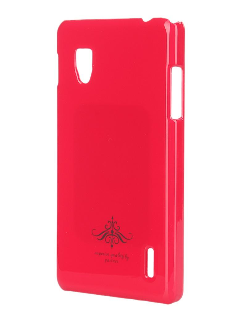 Аксессуар Чехол-накладка LG Optimus G E975 Partner Glossy Peach ПР028198