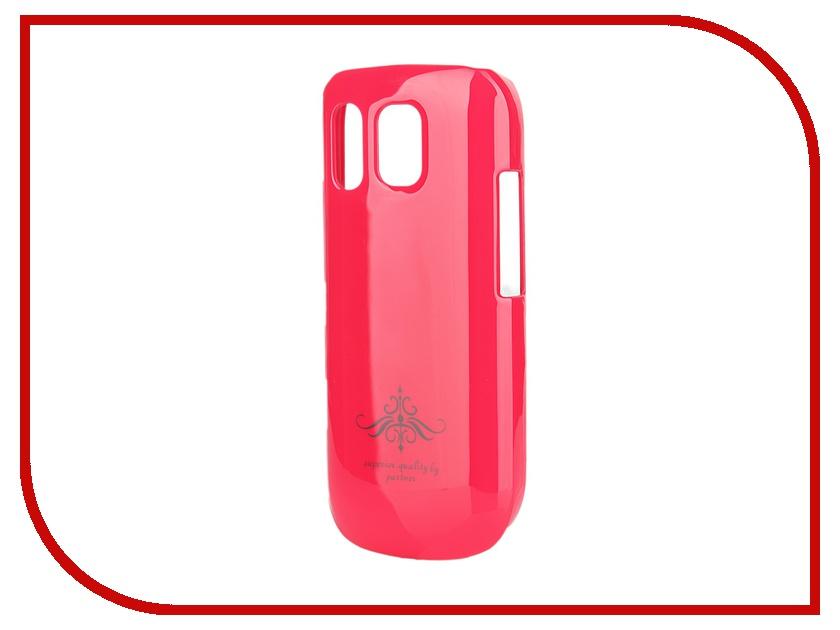 Аксессуар Чехол-накладка Nokia Asha 202 Partner Glossy Pink ПР028203