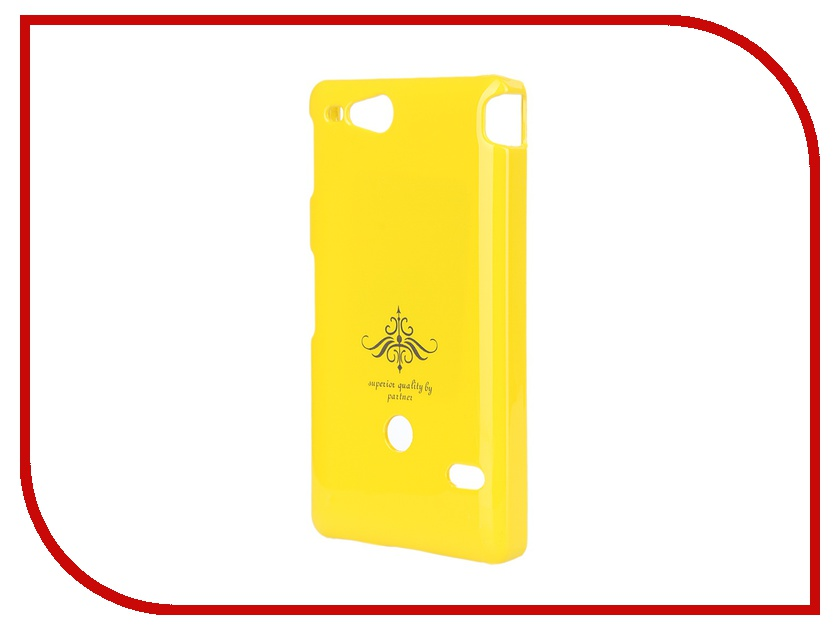 Аксессуар Чехол-накладка Sony ST27i Xperia Go Partner Glossy Yellow ПР028063 makibes toughened glass 0 33mm screen protector film cover arc edge for asus zenfone 2 5 0inch