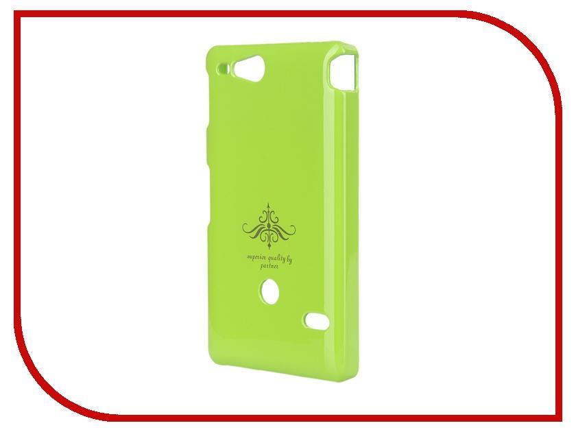 Аксессуар Чехол-накладка Sony ST27i Xperia Go Partner Glossy Green ПР027980 аксессуар чехол накладка sony st27i xperia go partner glossy yellow пр028063