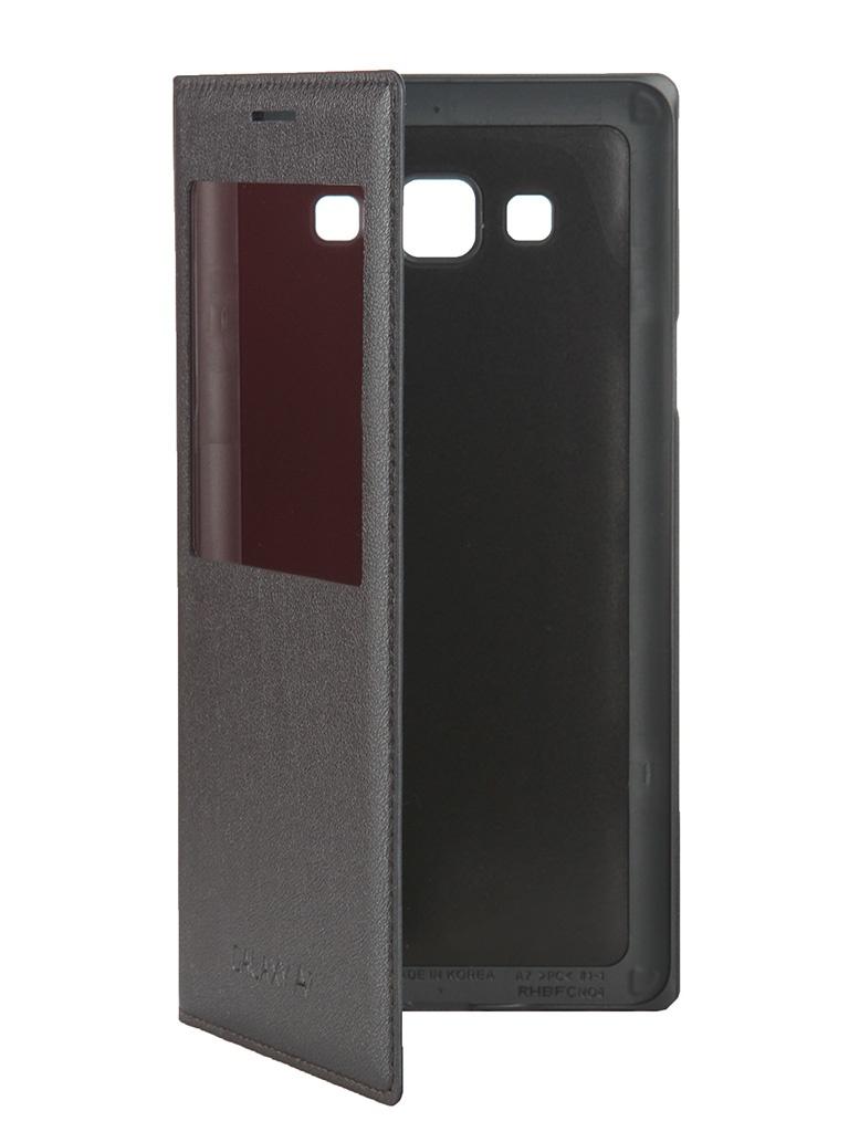 Аксессуар Чехол Samsung Galaxy A7 S-View EF-CA700BCEGRU Black<br>