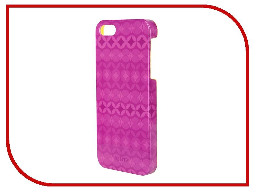Аксессуар Защитная панель Leitz Retro Chic для iPhone 5 / 5S / SE 63730065 Violet<br>