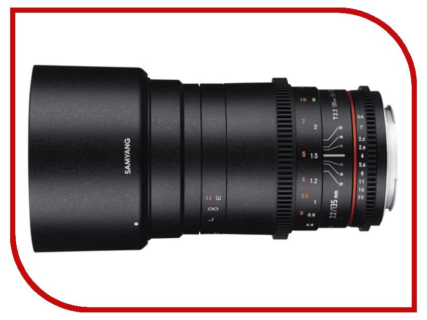 Объектив Samyang Nikon 135 mm T2.2 ED UMC VDSLR